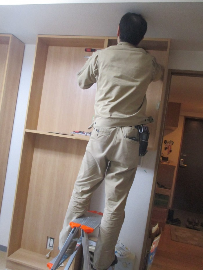 オーダー壁面収納棚