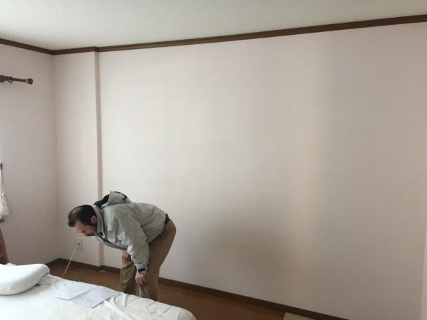 大型壁面収納設置