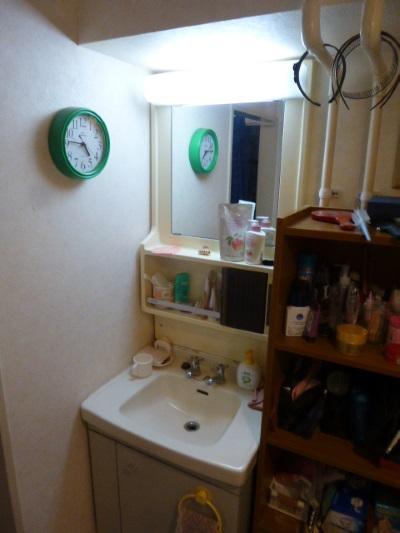 施工前洗面化粧台