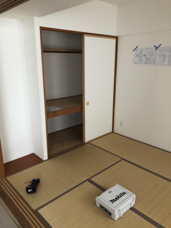 1施工前和室2押入れ